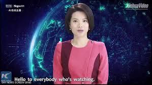 """اول مذيعة أخبار """"روبوت"""" صينية  عبر تقنية الذكاء الاصطناعي"""