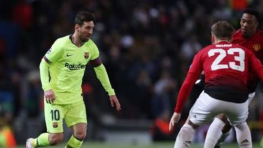 برشلونة يتغلب على مانشستر في دوري أبطال أوروبا