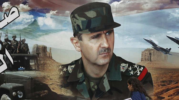 الرئيس الأسد باللباس العسكري على صفحة رئاسة الجمهورية في عيد الجلاء