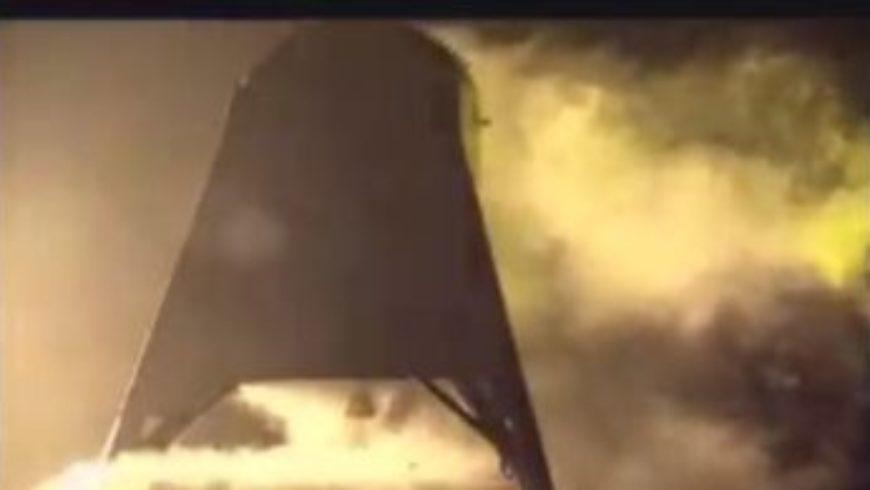 """فيديو لأحدث اختبارات مركبة """"Starhopper"""" الفضائية الجديدة"""