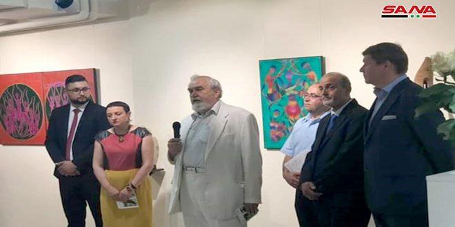 حضارة سورية وصمودها التاريخي بمعرض للفنان عفيف آغا في كييف