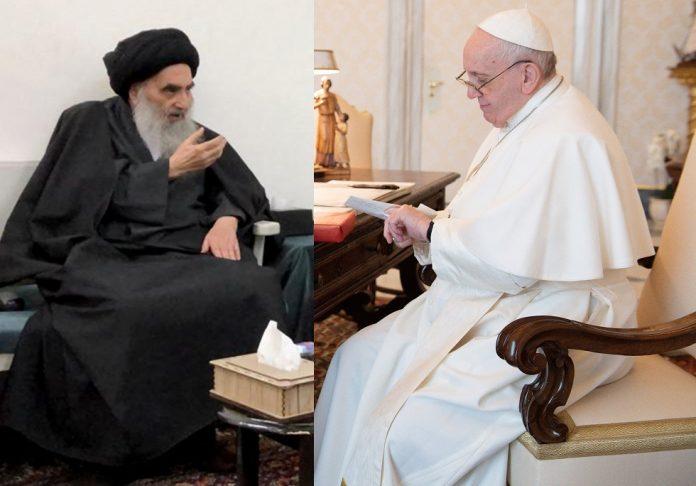 البابا يلتقي آية الله العظمى علي السيستاني في النجف