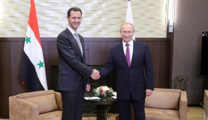 الرئيس,الأسد,برقية,تهنئة,الرئيس,بوتين,عيد الجلاء,روسيا,سيادة,استقلال,سورية,موقع أصدقاء سورية