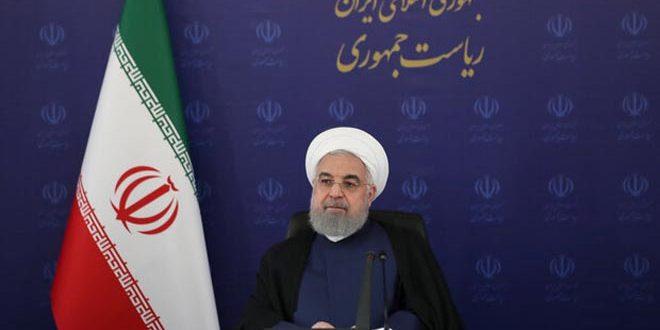 روحاني: إجراءاتنا بزيادة نسبة تخصيب اليورانيوم رد على مؤامرات الأعداء.موقع أصدقاء سورية.