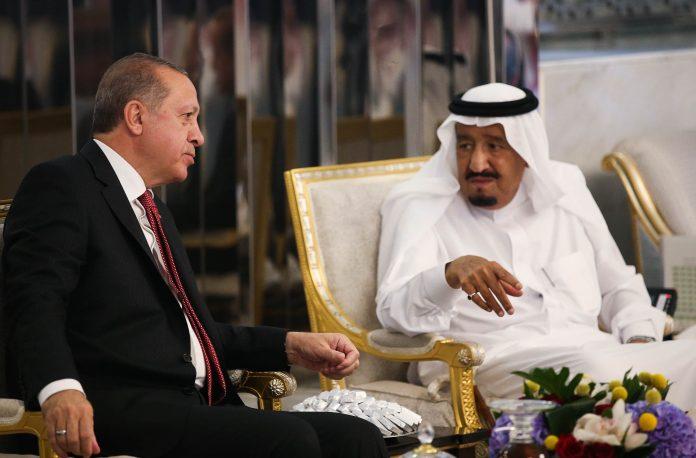 الرئيس التركي يبحث مع الملك السعودي العلاقات الثنائية بين البلدين