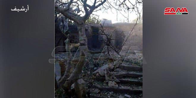 استشهاد طفلة وإصابة والدها جراء اعتداء الإرهابيين المنتشرين في إدلب بالقذائف على جورين بريف حماة.موقع أصدقاء سورية.