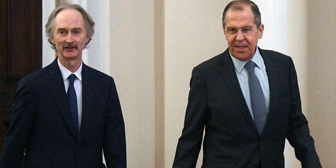 لافروف خلال لقائه بيدرسون: نأمل عقد جولة جديدة من اجتماعات لجنة مناقشة الدستور في جنيف قريباً - موقع أصدقاء سورية